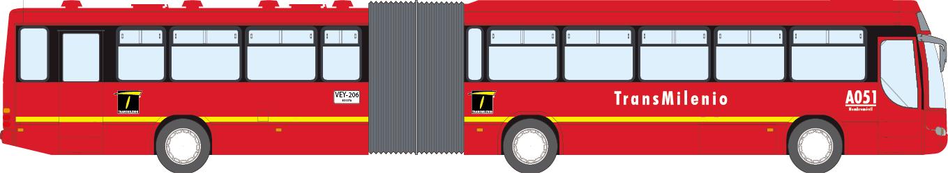 Bus articulado de Transmilenio