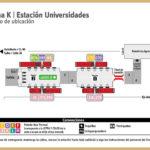 Mapa de la estación Universidades TranMilenio
