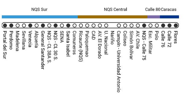 Mapa ruta A52 Transmilenio