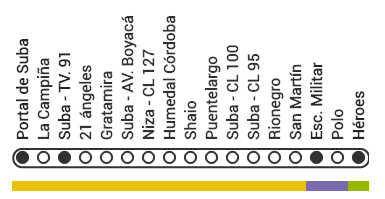 Mapa ruta B56 TransMilenio