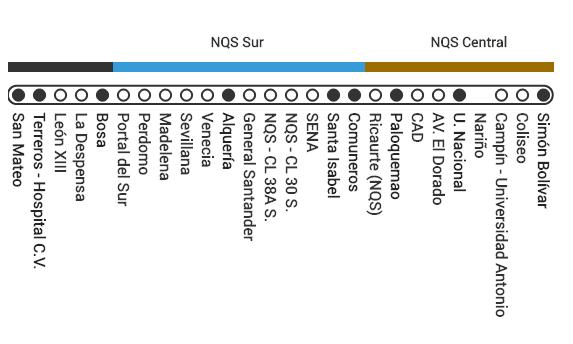 Mapa ruta E44 Transmilenio