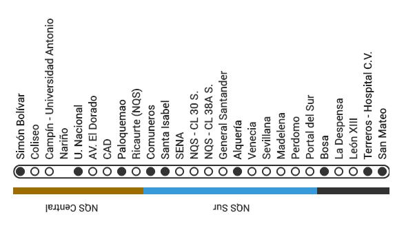 Mapa ruta G44 Transmilenio