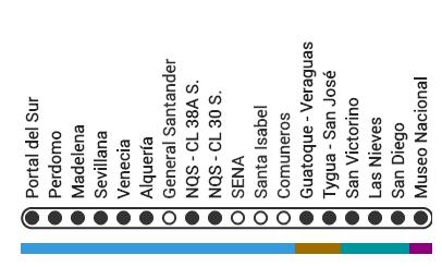 Mapa ruta M47 Transmilenio