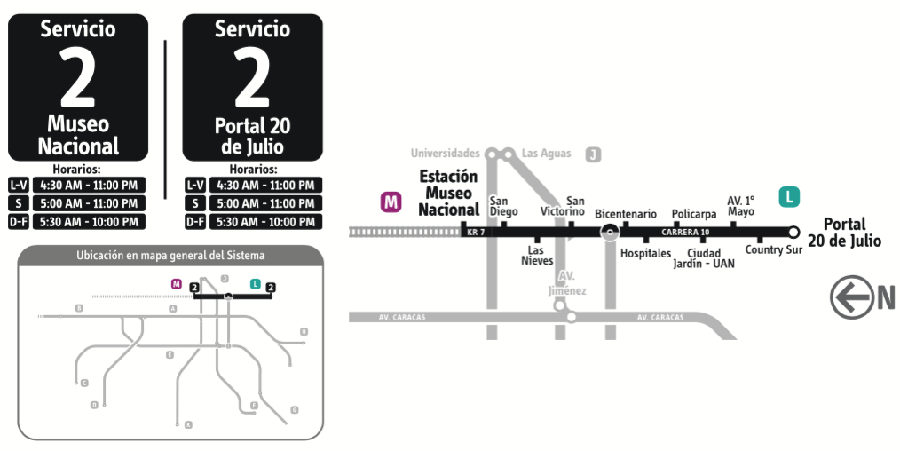 Mapa Ruta 2 Transmilenio